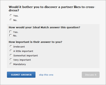 OkCupid Sample Question